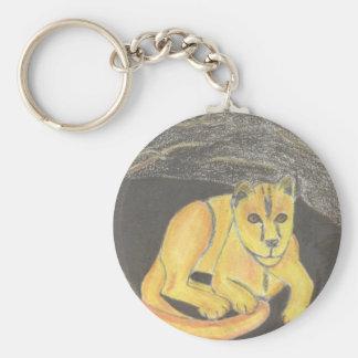 Baby lejona Keychain av Julia Hanna Rund Nyckelring