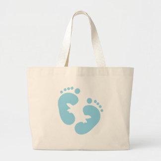 Baby med hjärtfelfotspår jumbo tygkasse