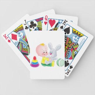 Baby och kanin spelkort