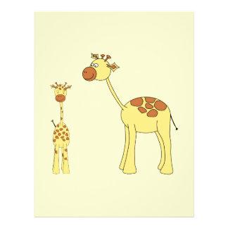 Baby- och vuxenGiraffe. Reklamblad 21,5 X 30 Cm