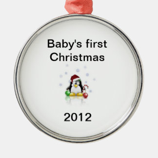 Baby ornement för firtjul julgransprydnad metall