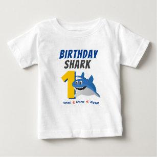 Baby Shark Birthday Shirt med Anpassadets ålder T Shirt
