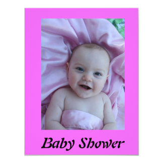 Baby shower 10,8 x 14 cm inbjudningskort