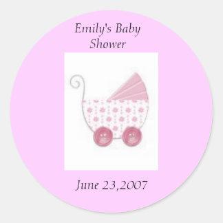 Baby shower runt klistermärke