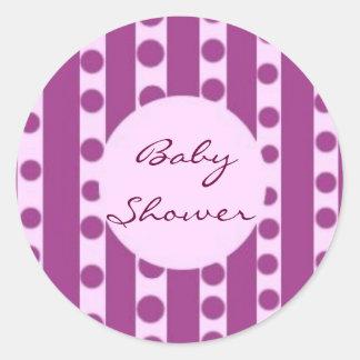 Baby shower klistermärken