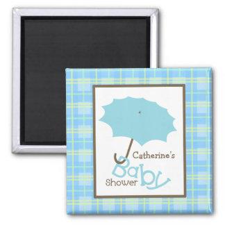 Baby shower - blåttparaply och pläd