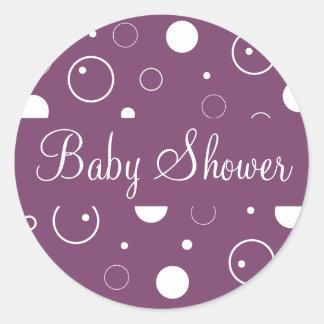 Baby shower bubblar kuvertklistermärken förseglar runda klistermärken