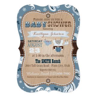 Baby shower för CowboyBandannajumper 12,7 X 17,8 Cm Inbjudningskort