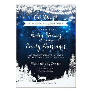 Baby shower för hjort för Starry natt för 12,7 X 17,8 Cm Inbjudningskort
