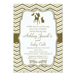 Baby shower för hjort för vintageskogsmarkBambi 12,7 X 17,8 Cm Inbjudningskort