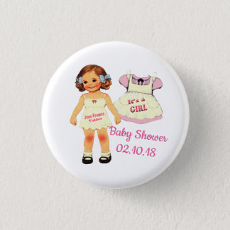 baby shower för Juni knäppas Mini Knapp Rund 3.2 Cm