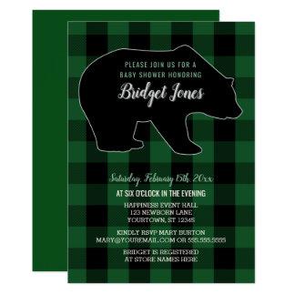 Baby shower för pläd för Lumberjack för 12,7 X 17,8 Cm Inbjudningskort