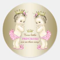 Baby shower för Princess Koppla samman Flicka Runt Klistermärke