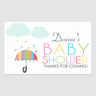 Baby shower för regnbågeparaplyneutralt