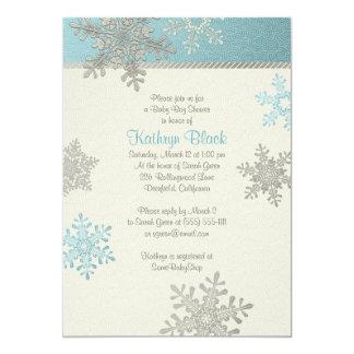 Baby shower för vinter för Snowflake för 12,7 X 17,8 Cm Inbjudningskort