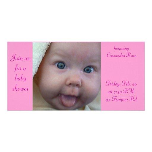 Baby shower fotokort mall