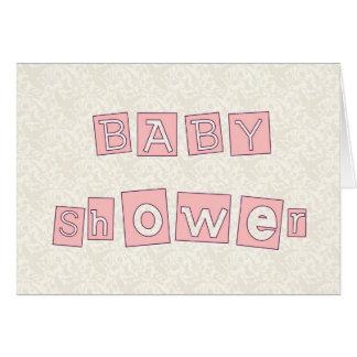Baby shower hälsningskort