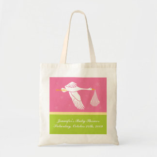 Baby shower hänger lös - rosor och grönt budget tygkasse