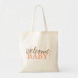 Baby shower hänger lös   välkomnande budget tygkasse