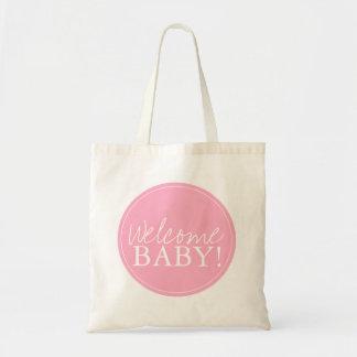 Baby shower hänger lös | välkomnande budget tygkasse