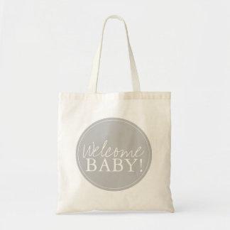 Baby shower hänger lös välkomnande tygkassar