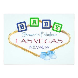 Baby shower i Las Vegas POJKEinbjudan 12,7 X 17,8 Cm Inbjudningskort