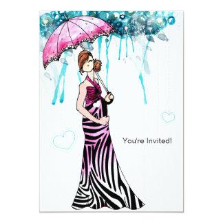 Baby shower 12,7 x 17,8 cm inbjudningskort