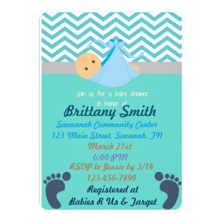 Baby shower Invitaitons 12,7 X 17,8 Cm Inbjudningskort