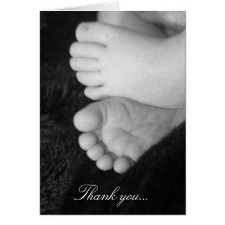 Baby shower tacka-du kort