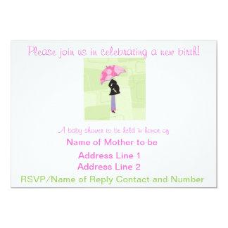 Baby showerinbjudan 12,7 x 17,8 cm inbjudningskort