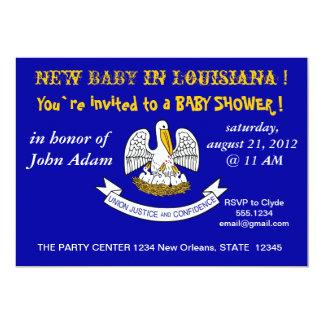 Baby showerinbjudan med flagga av Louisiana 12,7 X 17,8 Cm Inbjudningskort