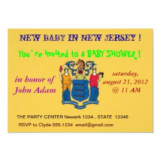 Baby showerinbjudan med flagga av nytt - jersey 12,7 x 17,8 cm inbjudningskort