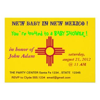Baby showerinbjudan med flagga av nytt - mexico