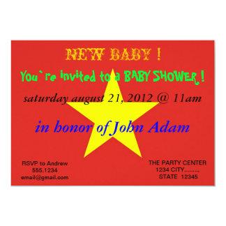 Baby showerinbjudan med flagga av Vietnam 12,7 X 17,8 Cm Inbjudningskort