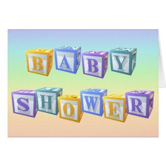 Baby showerinbjudan OBS kort