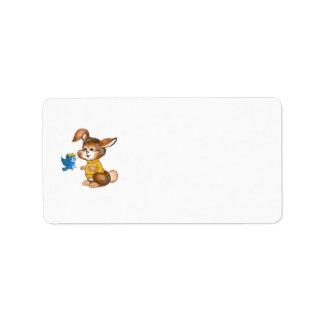 Baby showerinbjudanadressetiketter adressetikett