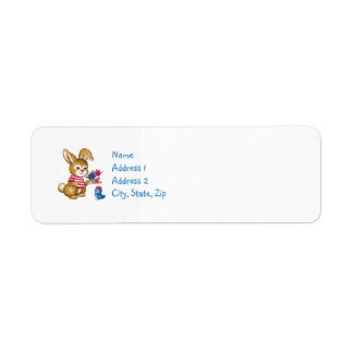 Baby showerinbjudanreturetiketter returadress etikett