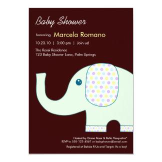 baby showerinbjudningar för elefant 5x7 12,7 x 17,8 cm inbjudningskort