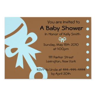 Baby showerinbjudningar, inbjudan, meddelanden 12,7 x 17,8 cm inbjudningskort
