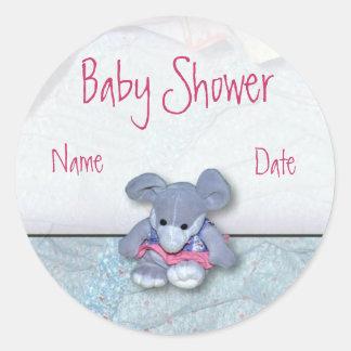 Baby showerklistermärke rund klistermärke