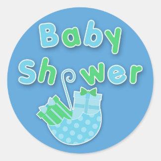 Baby showerklistermärke runt klistermärke