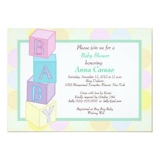 Baby showerkvarterinbjudan 12,7 x 17,8 cm inbjudningskort