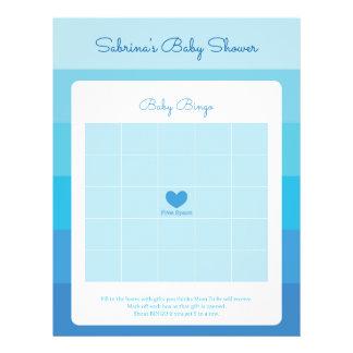 Baby showerlek i blåttOmbre randar Reklamblad 21,5 X 30 Cm