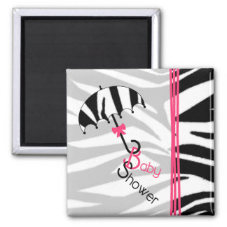 Baby showermagnet - zebra tryckparaply & rosor
