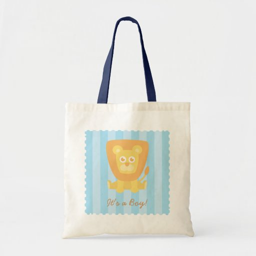Baby showerpartyfavör - lejon gullig tecknad tygkassar