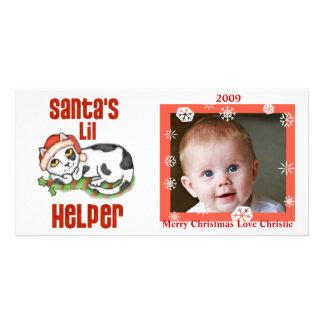 Baby ungar kort för familjjulfoto