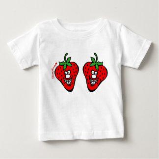 *Baby vitskjorta för jordgubbe Tee Shirt