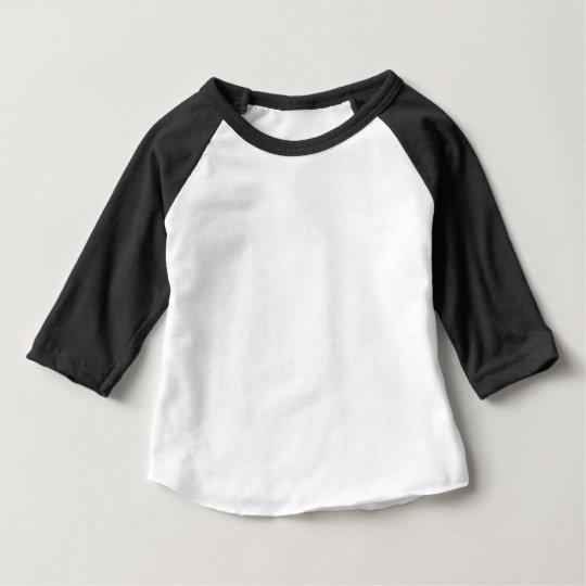 Baby American Apparel 3/4 Ärm Raglan T-Shirt, Svart