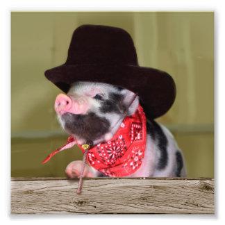 Babyar för boskap för Piglet för valpCowboybaby Fototryck