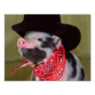 Babyar för boskap för Piglet för valpCowboybaby Poster